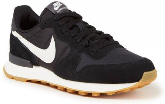 nike internationalist dames zwart leer