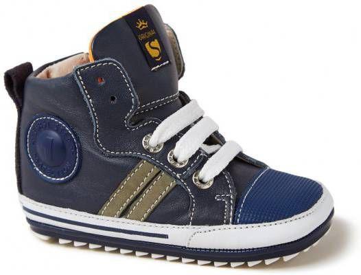 Shoesme donkerblauw Bp7W002-A veterschoenen en klitteband online kopen