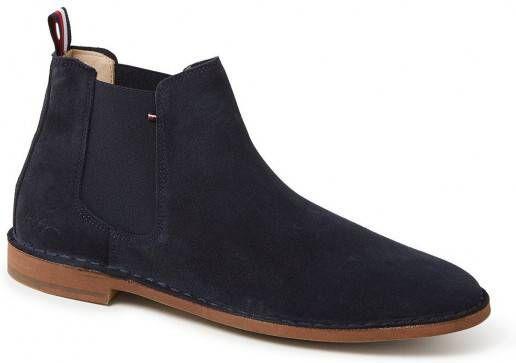 Tommy Hilfiger Dress Casual suède chelsea boots donkerblauw online kopen
