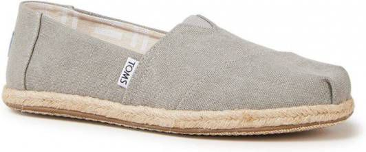 Toms Classic 10009754 Drizzle Grey Washed Canvas Rope Sole online kopen
