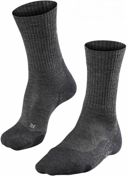 Falke TK2 Wool Sok Donkergrijs/Middengrijs online kopen