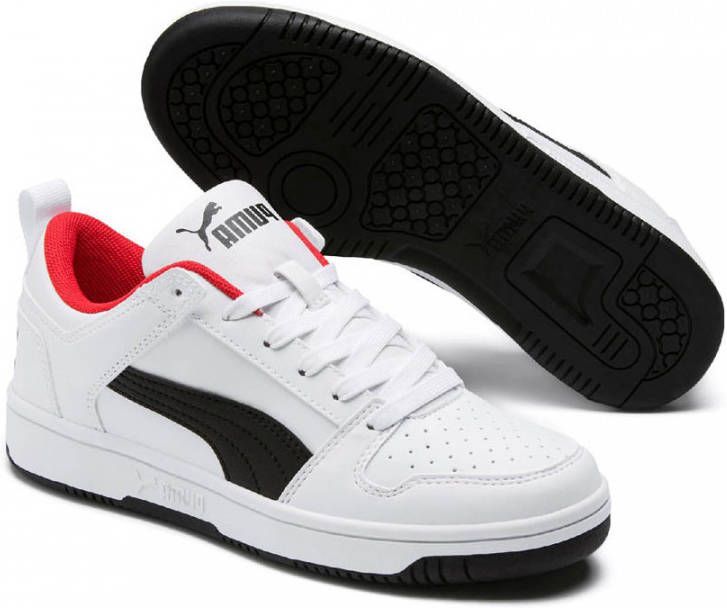 Puma Rebound Layup Lo SL Jr sneakers wit/zwart/rood online kopen