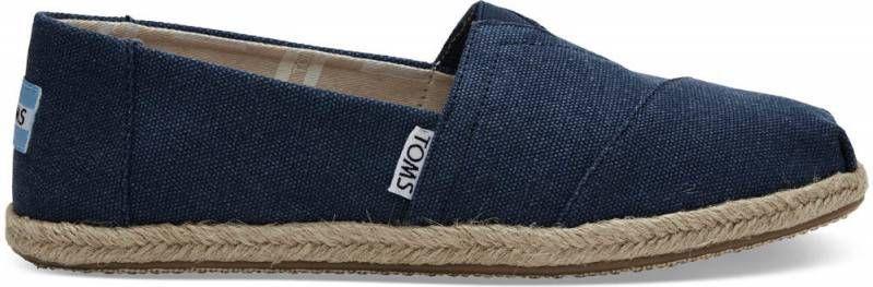 TOMS Navy Washed Dames Classics Slip-On Schoenen Maat 38.5 online kopen