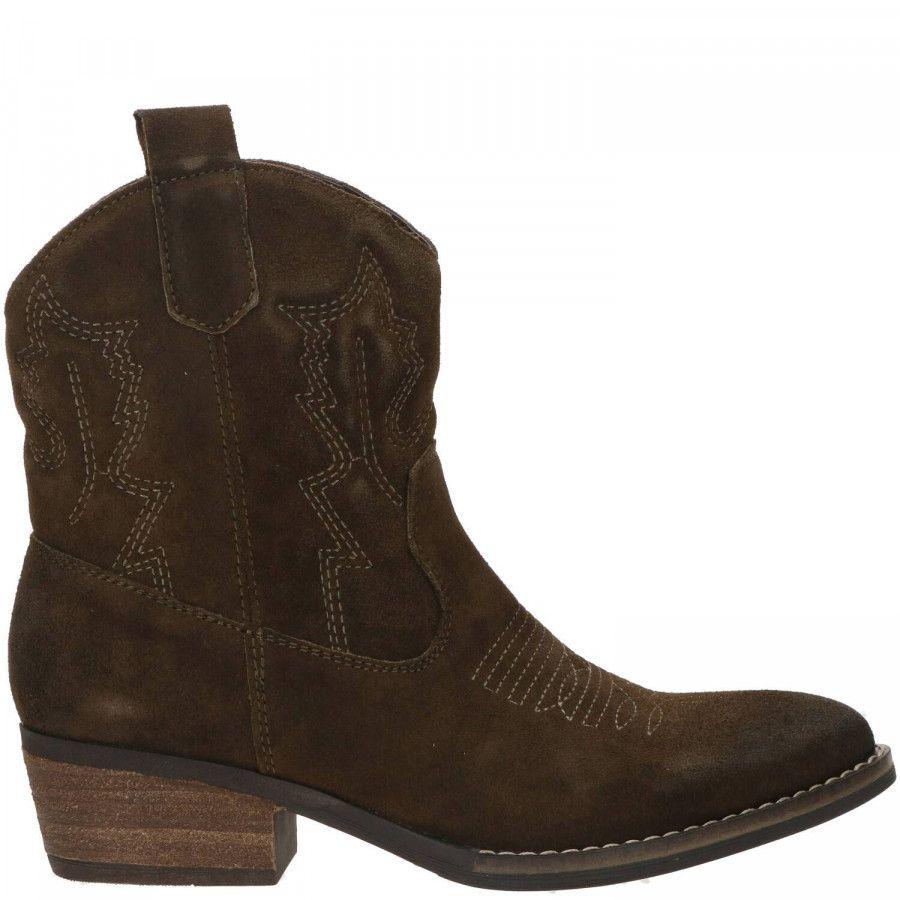 PS Poelman Bila suède cowboylaarzen kaki online kopen