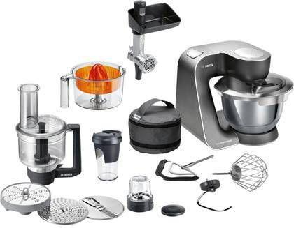 Bosch MUM59M55 keukenmachine 3,9 l Zwart, Roestvrijstaal 1000 W online kopen