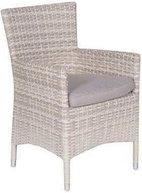 2 Zandkleurige Fauteuils.Garden Impressions Nicosia Dining Fauteuil Passion Willow 2