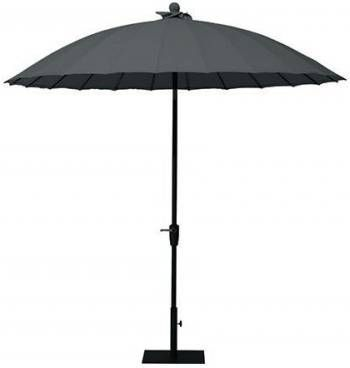 4 Seasons Outdoor | Parasol Shanghai 250 cm | Charcoal online kopen