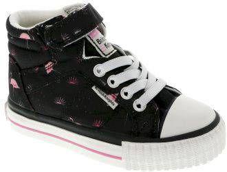 British knights DEE Baby meisjes hoge sneakers flamingo print Zwart maat 26 online kopen