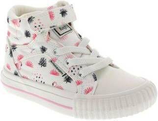British knights DEE Meisjes hoge sneakers flamingo print Wit maat 32 online kopen