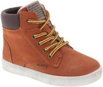 Develab 41855 hoge nubuck sneakers bruin online kopen