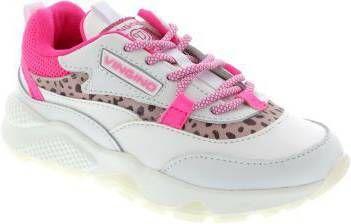 Vingino Marta leren chunky sneakers wit/roze online kopen