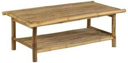 Bamboe Salon Tafel.Persoon Exotan Bamboe Lounge Tafel Bamboo Natural Finish
