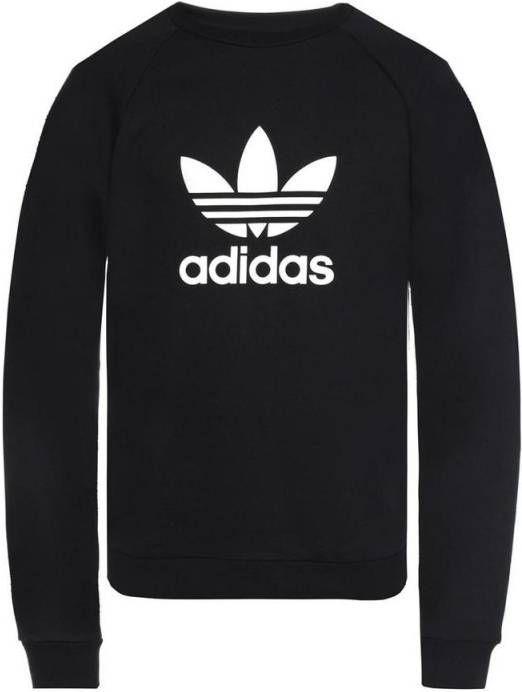 Adidas Originals adicolor Oversized sweatshirt met iriserend logo, in zwart