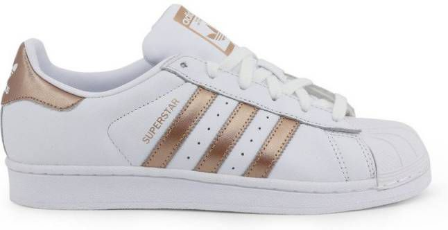 Adidas originals Superstar leren sneakers witmintgroen