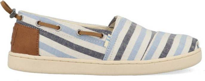 TOMS Youth bimini navy woven stripe/ synthetic trim online kopen