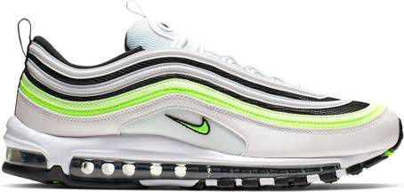 Nike Air Max 97 Sneakers in wit en zwart met neon strepen