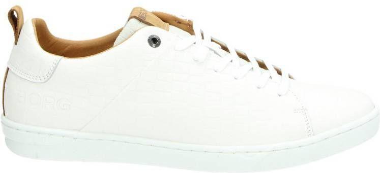 Bjorn Borg Kendrick Croco lage sneakers wit