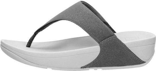 FitFlop Lulu™ shimmer toe post pewter-schoenmaat 39 online kopen