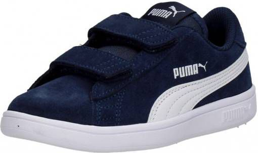 d8a7b24a2dd Puma Smash v2 SD V Inf sneakers donkerblauw - Frontrunner.nl