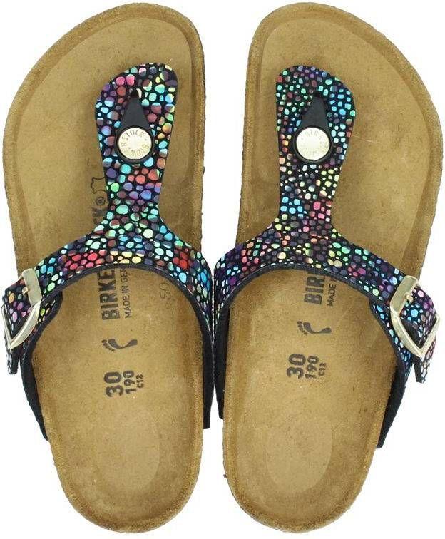 Birkenstock Gizeh slippers met metallics