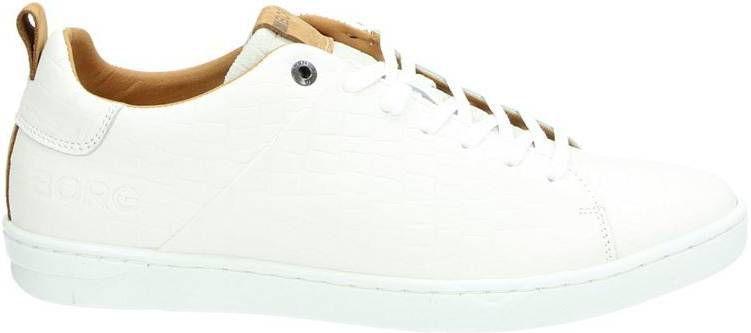 winkelen voor echte schoenen nieuwe aankomst Bjorn Borg Kendrick Croco lage sneakers cognac