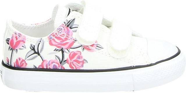 Converse All Star klittenbandschoenen wit