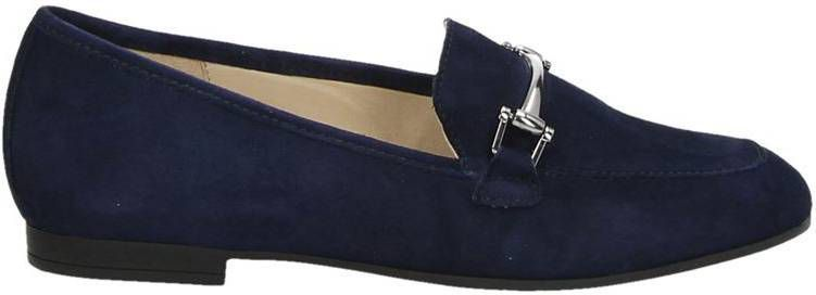 Gabor suède loafers donkerblauw online kopen