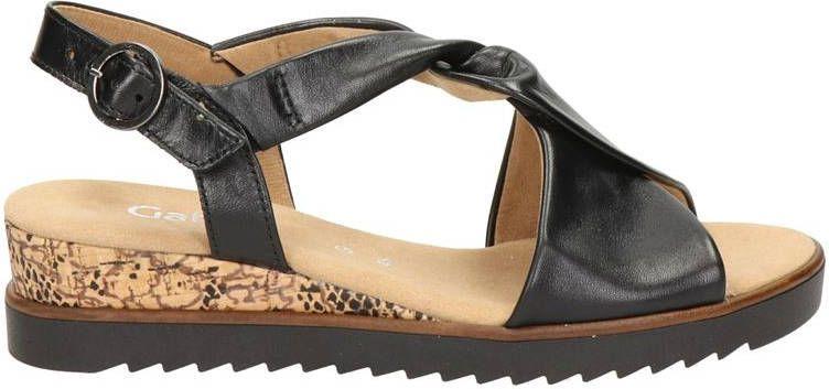 Gabor leren sandalen zwart online kopen