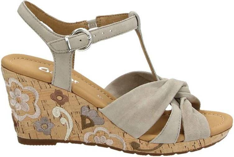 Gabor suède sandalettes beige online kopen