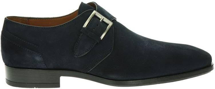Greve suède gespschoenen donkerblauw online kopen