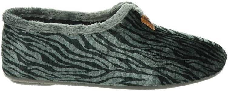 Nelson Home pantoffels tijgerprint grijs online kopen