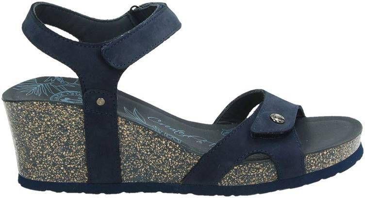Panama Jack Julia Basics nubuck sandalettes donkerblauw online kopen