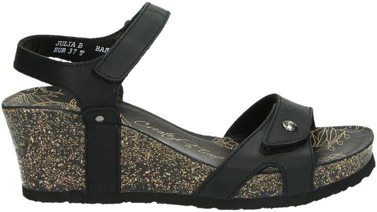 Panama Jack Julia nubuck sandalettes zwart online kopen