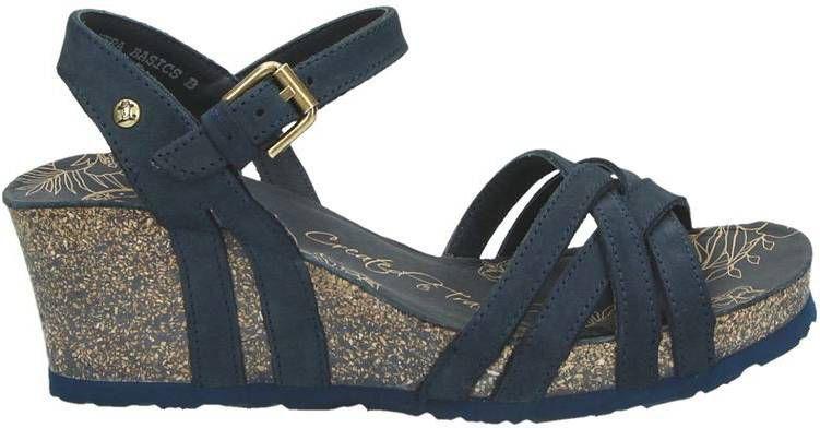 Panama Jack Vera nubuck sandalettes marine online kopen