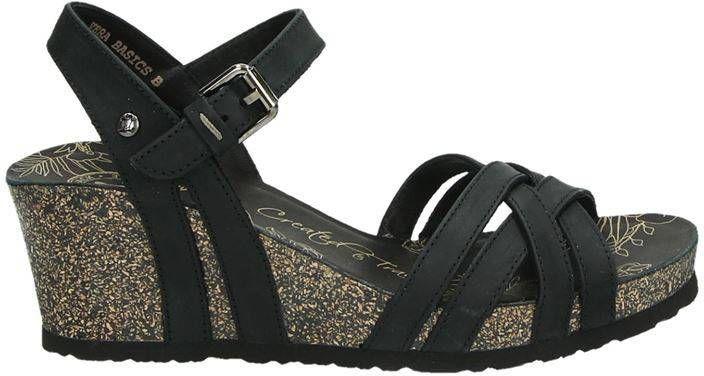 Panama Jack Vera nubuck sandalettes zwart online kopen