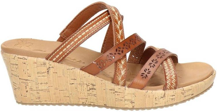Skechers Luxe Foam slippers cognac online kopen