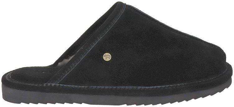 Warmbat Australia Barron suède pantoffels zwart online kopen