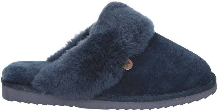 Warmbat Australia suède pantoffels blauw online kopen