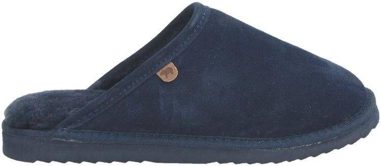 Warmbat Australia gevoerde suède pantoffels blauw online kopen