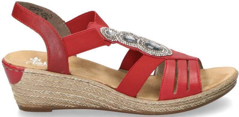 Rieker dames sandalen met hak Goudkleur