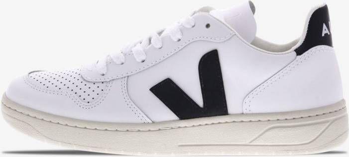 """Veja V-10 Leather """"Extra-White Black"""" online kopen"""