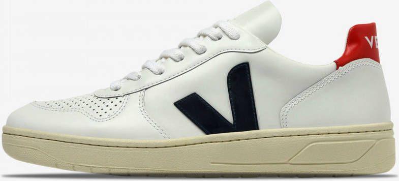 Veja V-10 leather nautico pekin schoenen extra online kopen