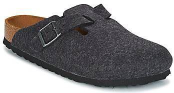 Birkenstock Boston antracite wool small grijs online kopen