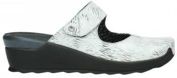 Klompen Wolky 02576 Up 70110 wit/zwart canal leer online kopen
