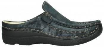 Klompen Wolky 06202 Roll Slide 10003 zwart metallic nubuck online kopen