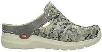Klompen Wolky 06600 Holland 49150 camouflage taupe leer online kopen