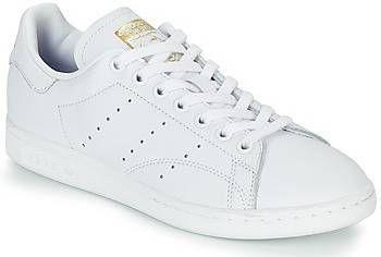 Schoenen adidas Originals STAN SMITH W Wit Schoenen Lage