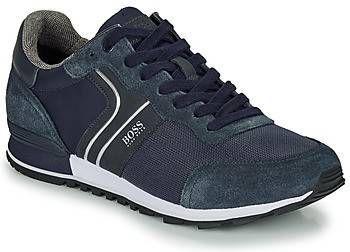 BOSS Parkour_Runn_nymx2 suède sneakers donkerblauw online kopen