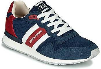 Jack & jones Mesh sneakers met contrasterende strepen in marineblauw online kopen