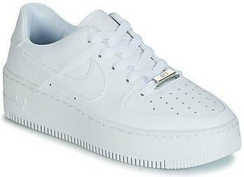 Nike White Air Force 1 Sage Lage sneakers